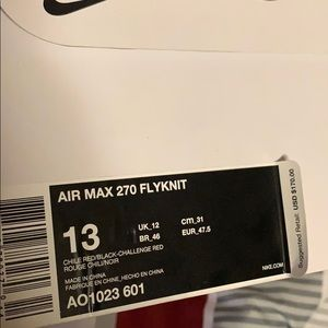 Nike Shoes - Nike Air max 270 flyknit